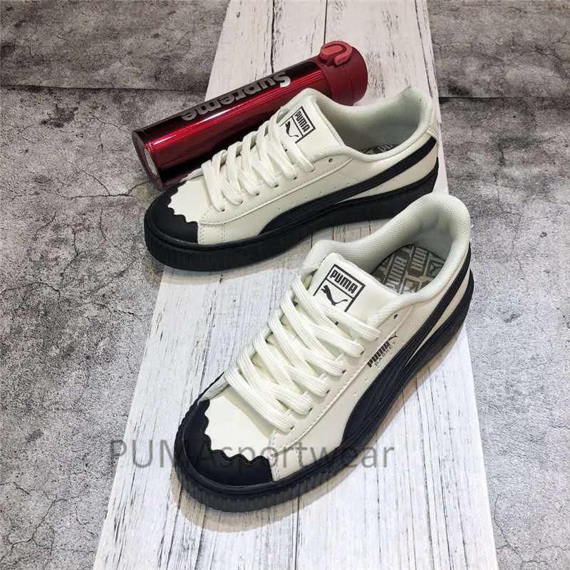 e56e0e191e4bc0 New Arrival Original Puma Basket Heart Women s Breathable Sneakers  Badminton Shoes Size36-40