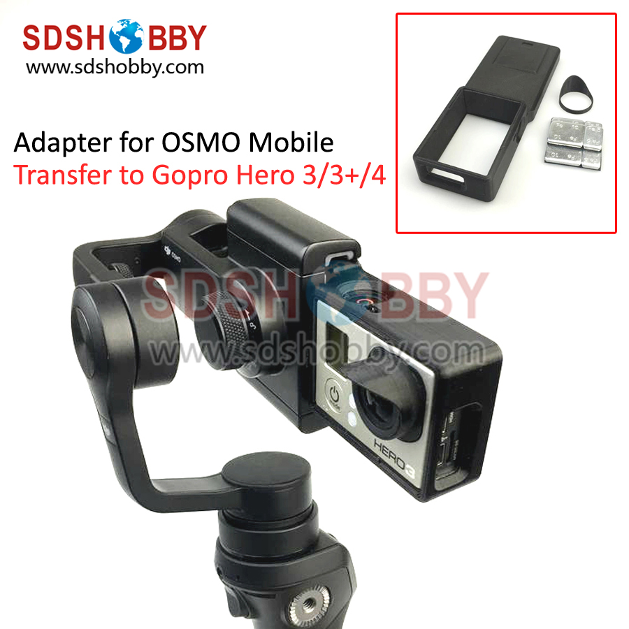GOPRO Hero 3 3 4 Accessories Adapter Switch Mount Plate for DJI OSMO Mobile Gimbal Camera