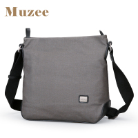 Muzee New Canvas Messenger Bag Men Shoulder Bag Crossbody Bag Vertical Section Business Casual Small Tide