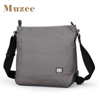 Muzee New Canvas Messenger Bag Men Shoulder Bag Crossbody Bag Vertical Section Business Casual Small Tide