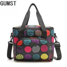 New Oxford Double Layer font b Cooler b font Lunch font b Bag b font Printed