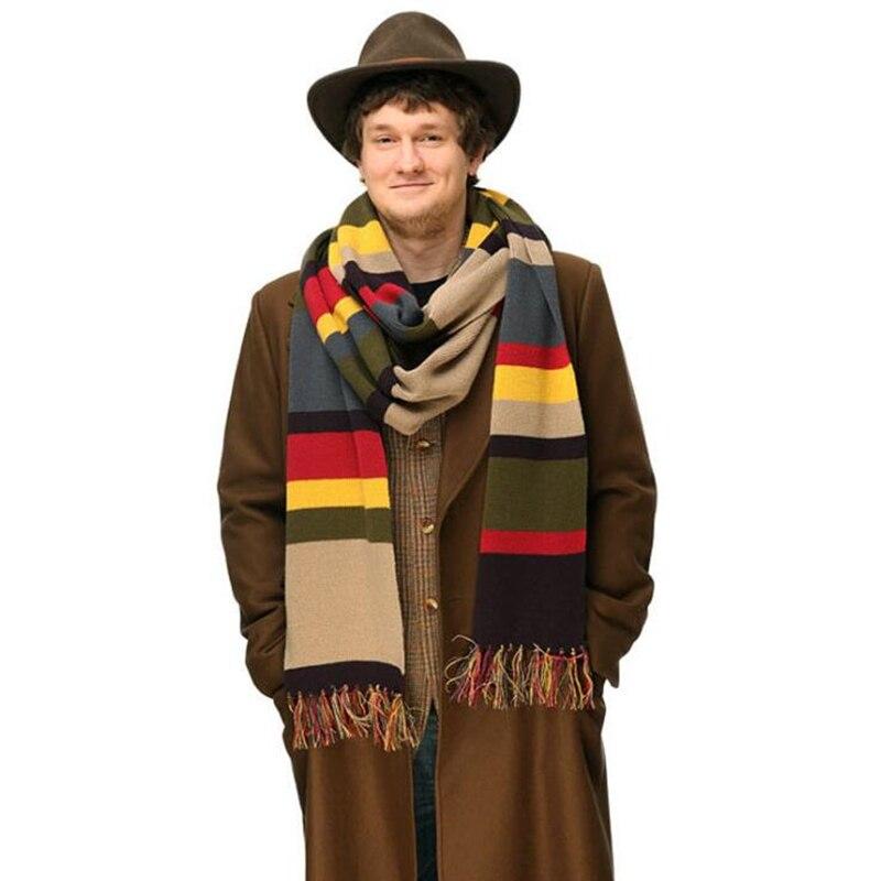 Doctor Who Color stripe Scarves cosplay costume plush Scarves Adult Kids Scarves