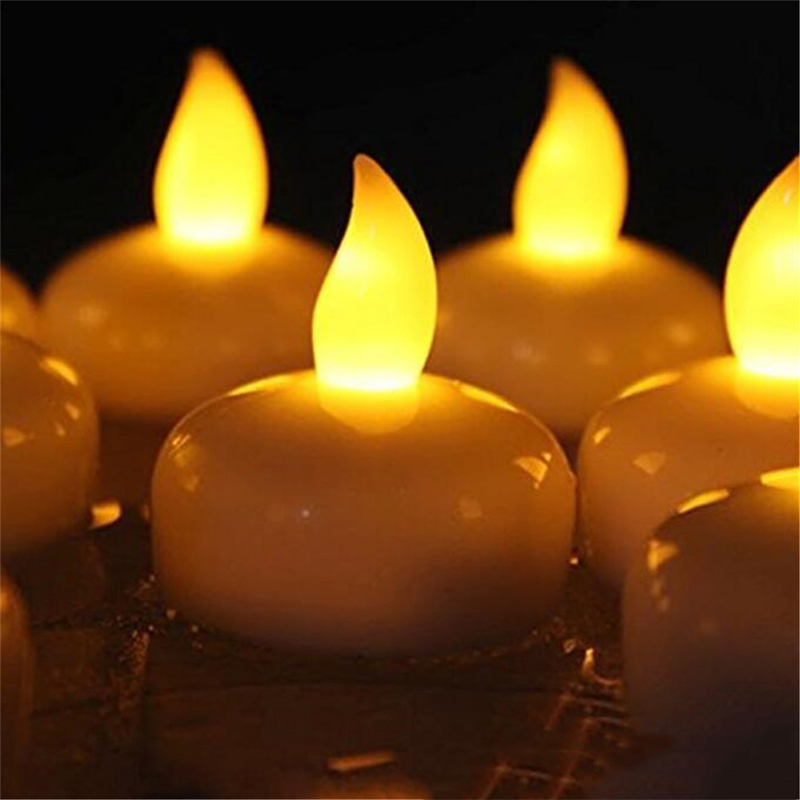 1 шт., Креативный светодиодный светильник для чая с датчиком воды, Электронный светильник для бездымного мерцания свечей, лучший подарок, лампа для свечей - Цвет: Цвет: желтый