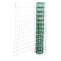 10 2M Length Garden Fence PVC Coated Metal Wire Fencing Green Mesh Fence Fencing Wall Outdoor