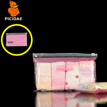 Pink Panties Woman Print Pattern Transparent Reseal Package Slide Valve Bag Plastic PE Dedicated Zipper Ziplock Child Ms