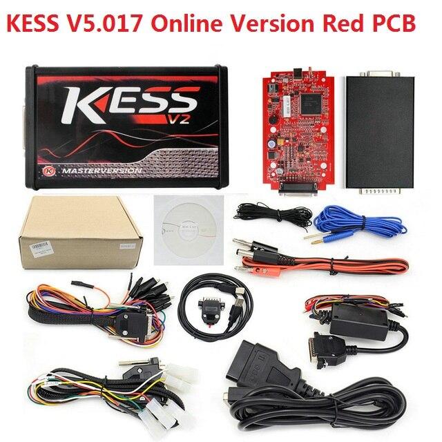 Red PCB KESS V2 5.017 K-tag KTAG Rosso V7.020 On-Line Master OBD2 Gestione Sintonia KESS V2 V5.017 No Gettoni ECU programmatore