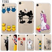 цены на YIKS Luxury Phone Case For iPhone 8 7 6 6s 5 5s SE Plus Transparent pattern Soft TPU Back Cover Capa For iPhone X  в интернет-магазинах