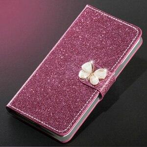 Image 1 - Cao cấp Lấp Lánh Bao Da Diamond Cho Meizu M5 Note M5S Ví Original Flip Cover Cho Meizu M5 Note M5S