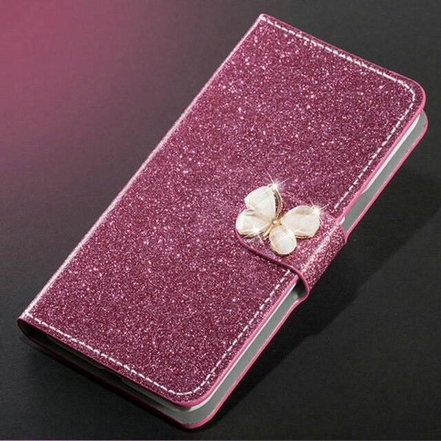 Cao cấp Lấp Lánh Bao Da Diamond Cho Meizu M5 Note M5S Ví Original Flip Cover Cho Meizu M5 Note M5S