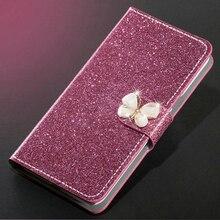 Luksusowy brokat diament skórzane etui do Meizu M5 uwaga M5S portfel oryginalne etui z klapką pokrywa dla Meizu M5 uwaga M5S