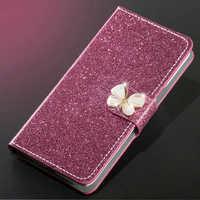 Luxus Glitter Diamant Leder Fall Für Meizu M5 Hinweis M5S Brieftasche Original Flip Abdeckung Für Meizu M5 Hinweis M5S