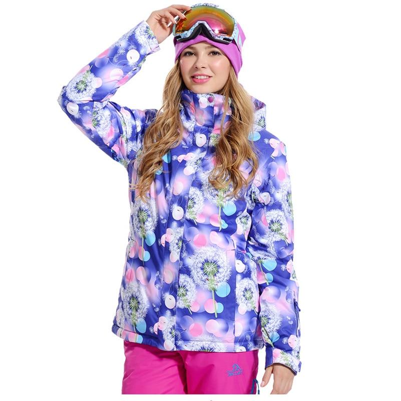 Prix pour Femmes Bande Veste de Ski Snowboard Chaud Coupe-Vent Imperméable Manteau Thermique Épaississent Vêtements de Plein Air Randonnée Camping Habit De Neige Femme