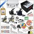 Полное Татуировки Kit 4 Пулеметы Наборы Роторная Машина Питания + Чернила + Питание + Игла + CD для начинающих Боди-Арт