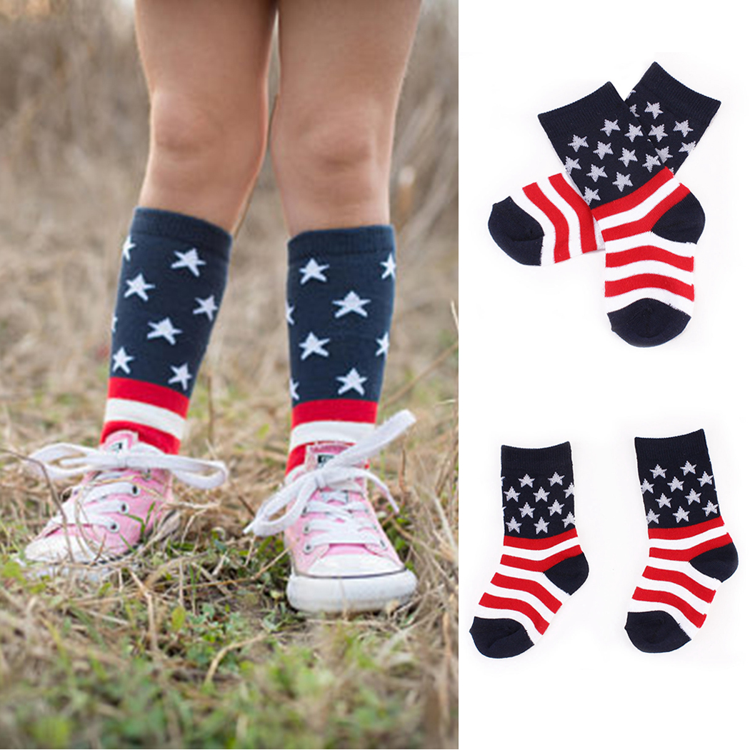 2018 Hot Stars Striped Socks Baby Girls Boys Infant Socks Kids Clothing Children Cotton  ...