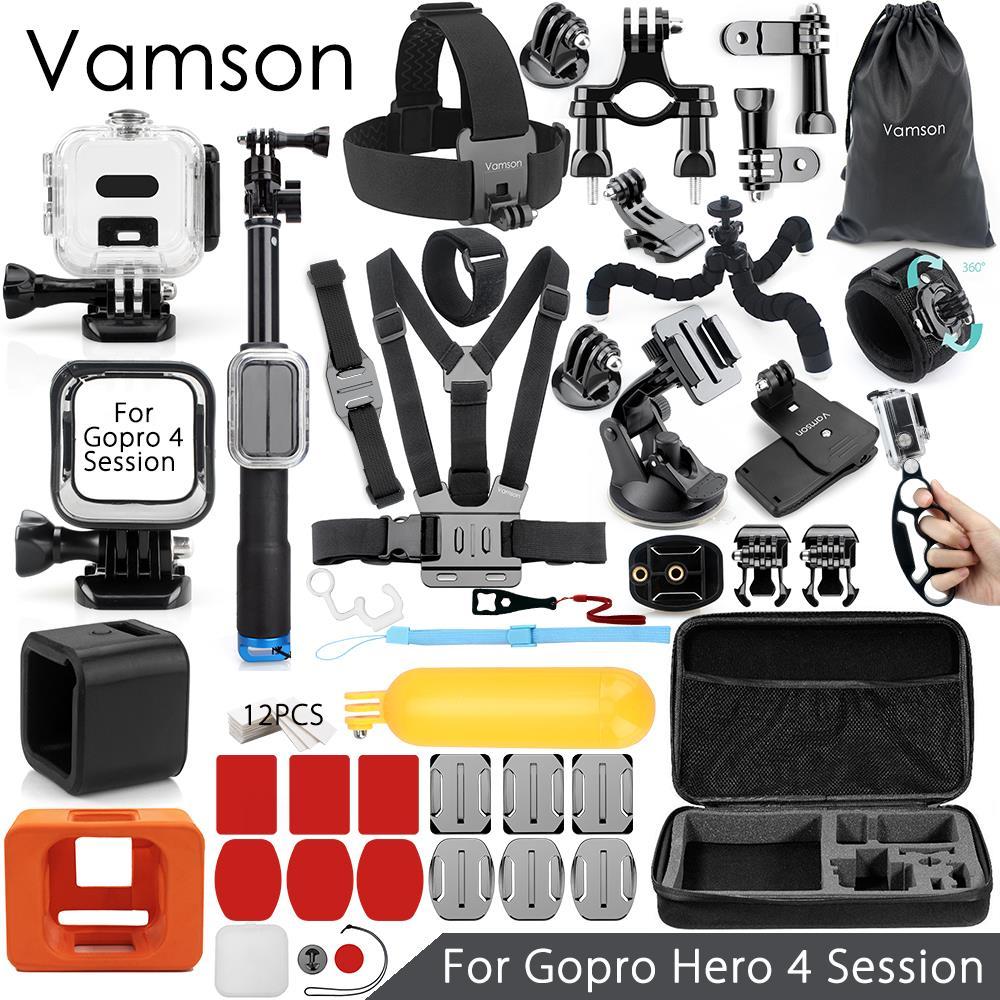 Vamson для Gopro 5 Session 4 Session аксессуары Супер комплект водонепроницаемый корпус чехол для Go pro hero 4 Session Экшн камера VS13