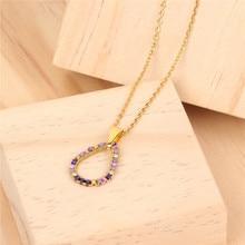 Miyuki Beads stainless steel Necklace Women Simple Delica Handmade Seed Love Lucky Drop Pendant Boho Sweater Chain Thin Jewelry цены