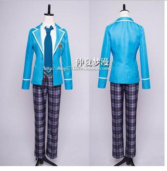 Ensemble Stars Nazuna Nito Undead Adonis Otogari Halloween Cosplay Costume school uniform suit