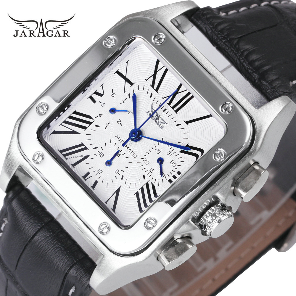 Watches For Unisex Automatic Mechanical 3 Working Sub-Dials Dress Wrist Watches