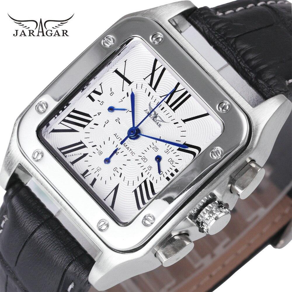 JARAGAR Top Marke Luxus Uhren für Männer Frauen Unisex Automatische Mechanische 3 Arbeits Sub-dials Mode Kleid Handgelenk Uhren