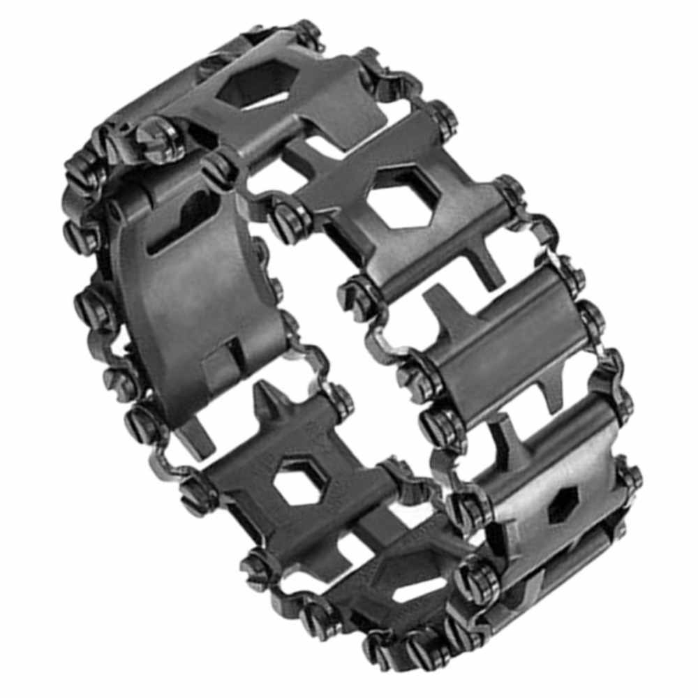 29 In 1 Stainless Steel Multi Tool Bracelets Camping Hiking Function Bracelet Black Driver Outdoor Emergency Kit Chain Link From
