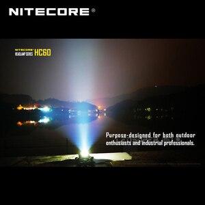 Image 5 - تحتوي على بطارية 3400mAh Nitecore HC60 كري XM L2 U2 LED 1000 لومينز USB مصباح أمامي قابل لإعادة الشحن