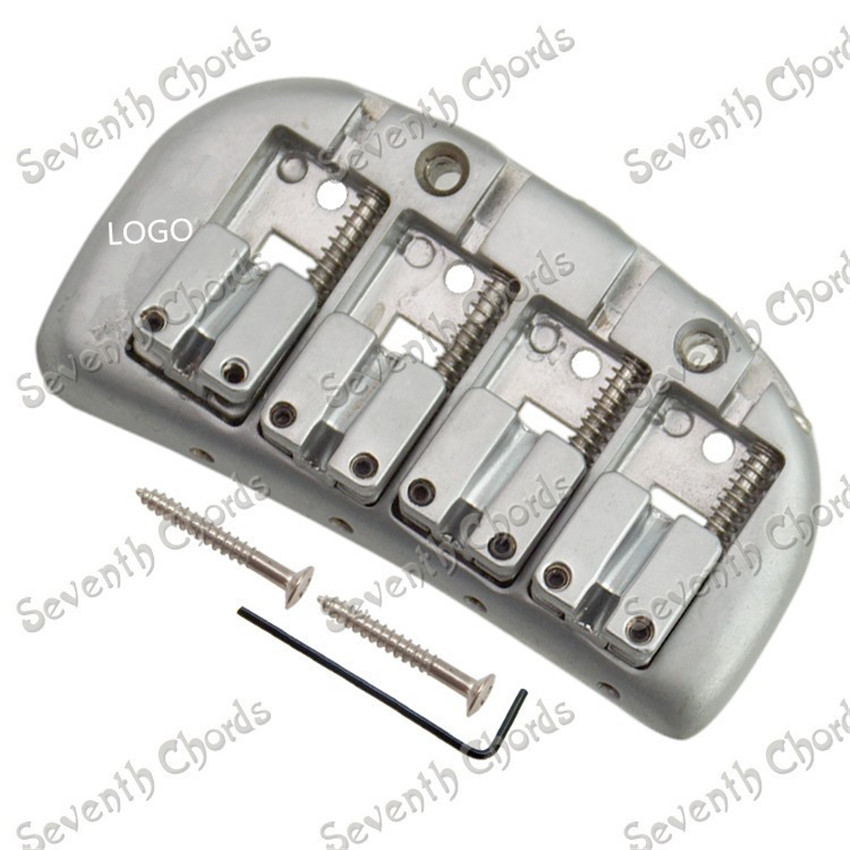 Silver Curve Baseplate Double Bullet 4 String Saddle Electric Bass Bridge жилеты silver string жилет