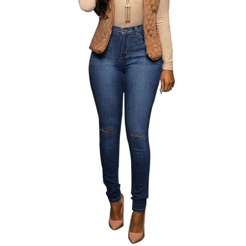 Lguc.H Classic Women   Jeans   Big Hip Hole Ripped   Jeans   High Waist   Jeans   Woman Trousers Pants 2018 Female Clothes Blue XXL XXXL S M