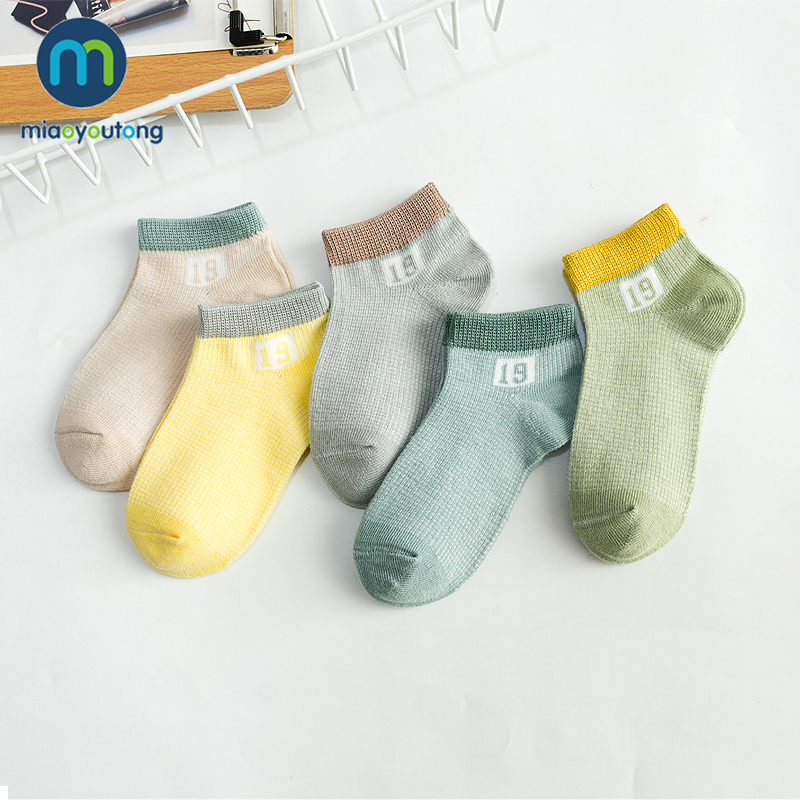 5Pairs Soft Mesh Numeral Comfortable Cotton Boys Newborn Socks Kids Girls Baby Socks Skarpetki Meia Infantil Miaoyoutong