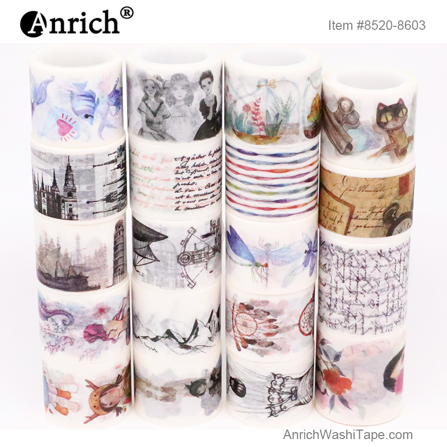 Free Shipping And Coupon Washi Tape,Washi Tape,basic Design,Optional Collocation,on Sale,#8520-8603