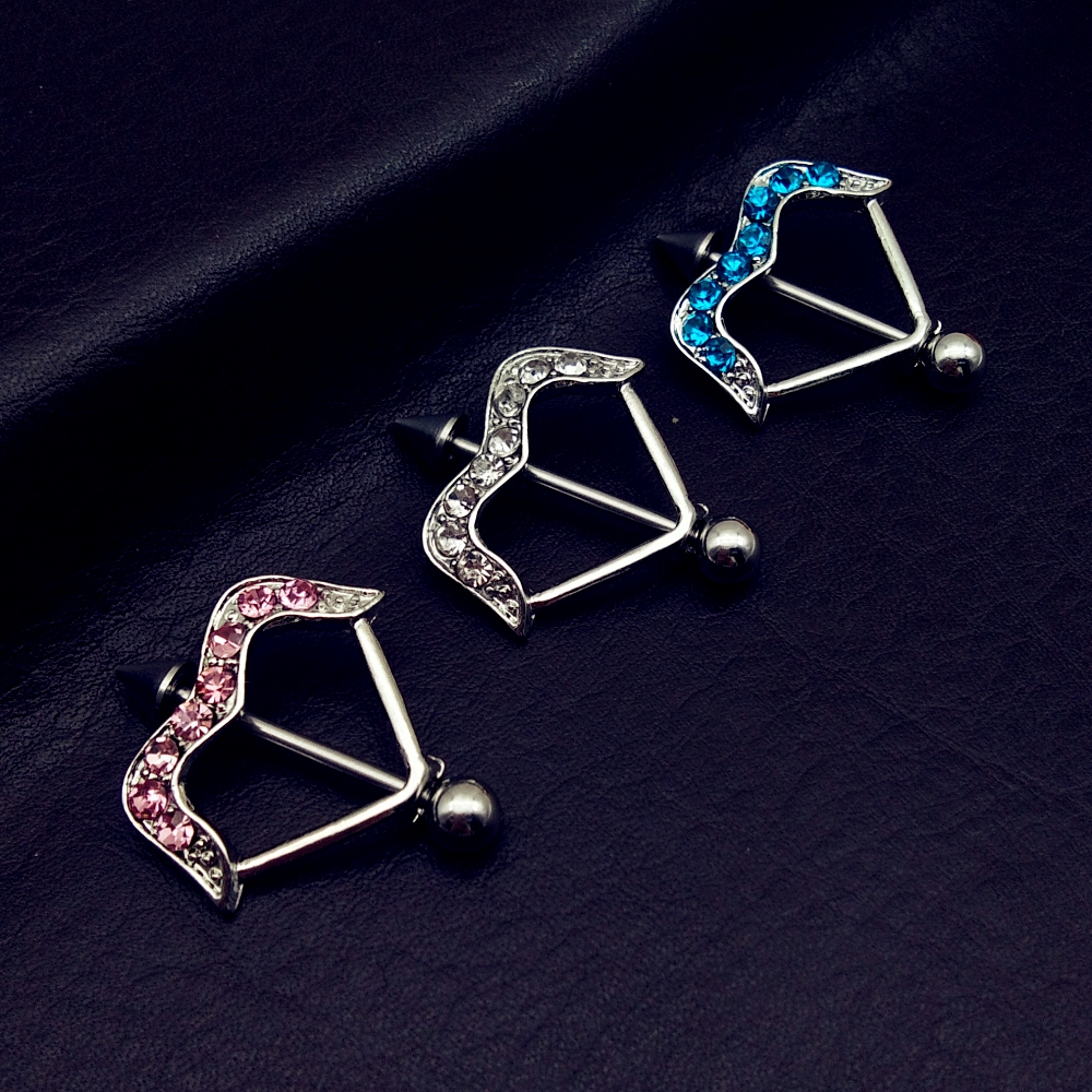 Christmas gifts charming stainless steel body piercing for Jewelry storm arrow ring