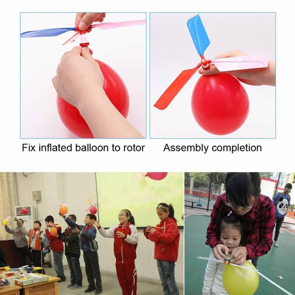 OCDAY 3 Pcs Clássico Helicóptero Voando Balão Brinquedos Infláveis para a Interação Pai-Filho Jogos Crianças Fontes do Partido de Aniversário