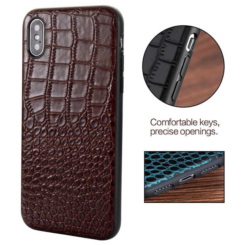 جلد طبيعي الحالات لتفاح iphone X XR XS XS ماكس 11 برو ماكس 360 كامل الغطاء الواقي ل iphone 6 5 5s se 6S 7 زائد 8 زائد11 11 Pro 11 Pro Max