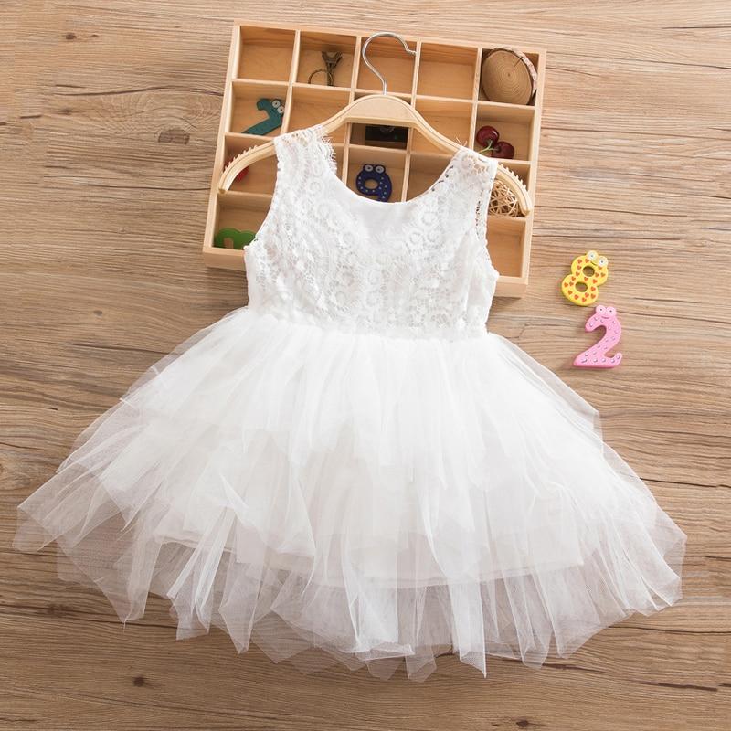 HTB1OHABnKSSBuNjy0Flq6zBpVXa0 Summer Dresses For Girl 2018 Girls Clothing White Beading Princess Party Dress Elegant Ceremony 4 5 6 Years Teenage Girl Costume