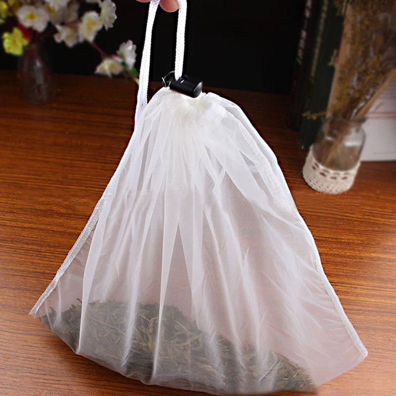 Nut Milk Bag Reusable Almond Milk Bags Commercial Food Grade Fine Nylon Mesh Food Strainer Cheese Maker Coffee Tea Filter 40*40
