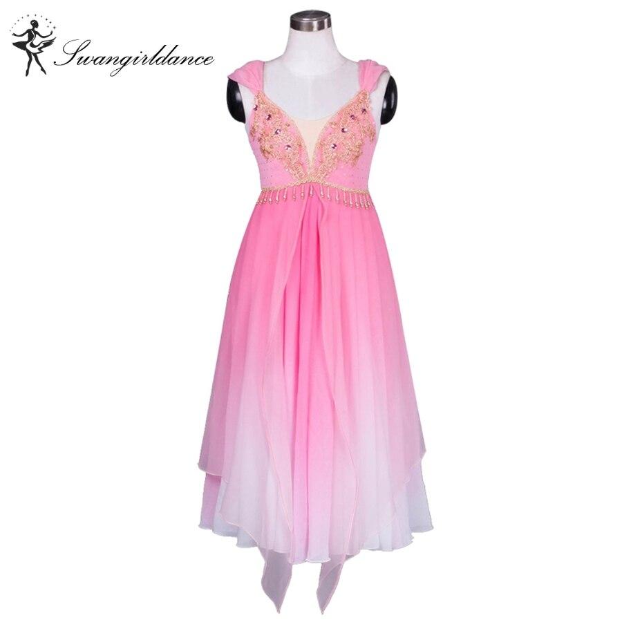 Adulti e Bambini di alta qualità chiffon rosa lungo vestito di balletto  professionale 763c7e6c636