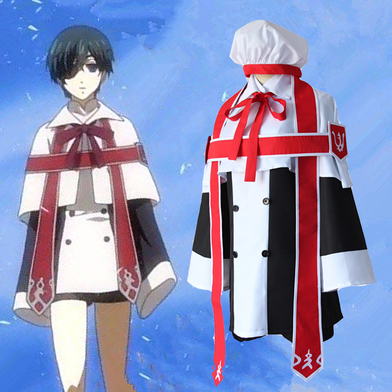 Anime nero bulter kuroshitsuji ciel phantomhive chiesa uniforme costume cosplay outfit formal dress