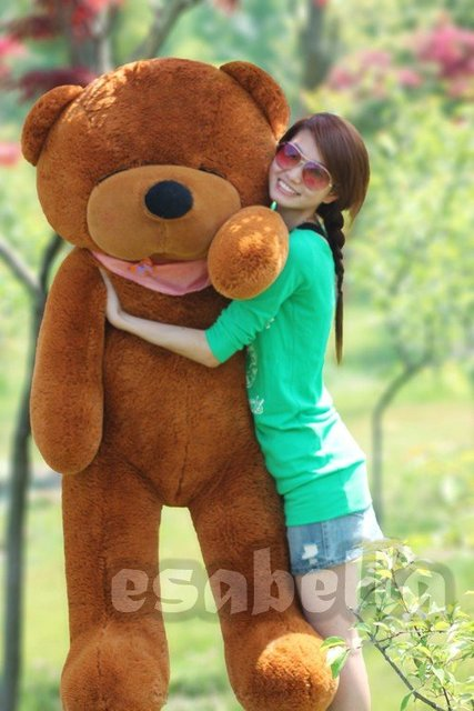 160CM GIANT HUGE BIG SOFT PLUSH SLEEPY TEDDY BEAR 63""