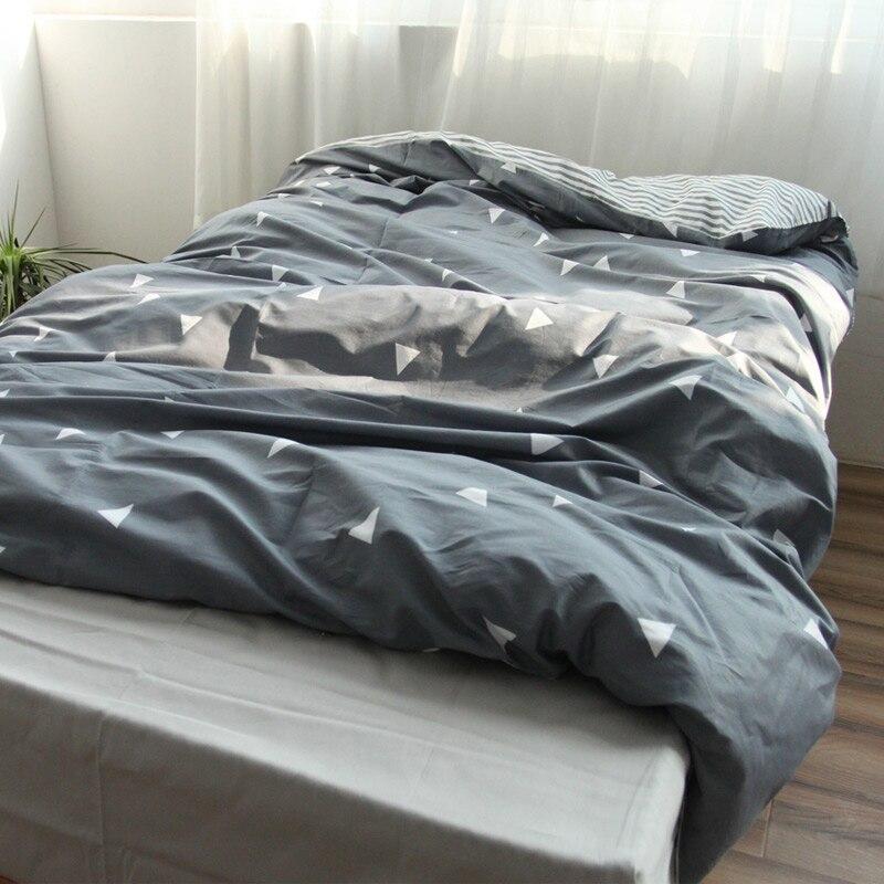 100 Cotton Duvet Cover Single Twin Double Quilt Case Queen