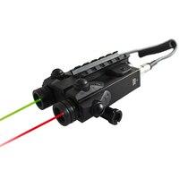 Transporte da gota militar ajustável feixe duplo mira laser com verde e vermelho ponteiro laser combinação para armas de tiro e caça Lasers     -
