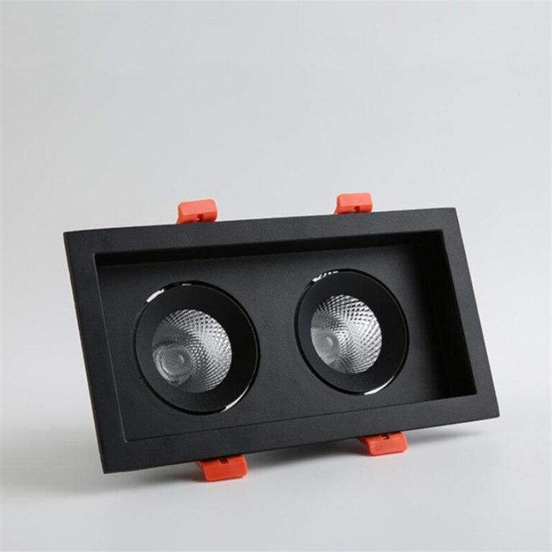 Led bile light COB double-headed spotlights grille single head two 10W/2*10W square furniture shop lamp