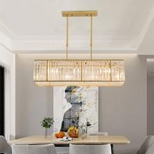 все цены на Modern Crystal Led Bulb Pendant Lights Restaurant Light Parlor Hanging Lamp Pipe Suspension Cuboid Pendant Lamp Hotel Hall Lamp онлайн