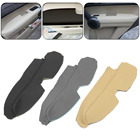 1 Pair Left Right Leather Front Door Panels Armrest Covers For Honda CRV 2007-2011
