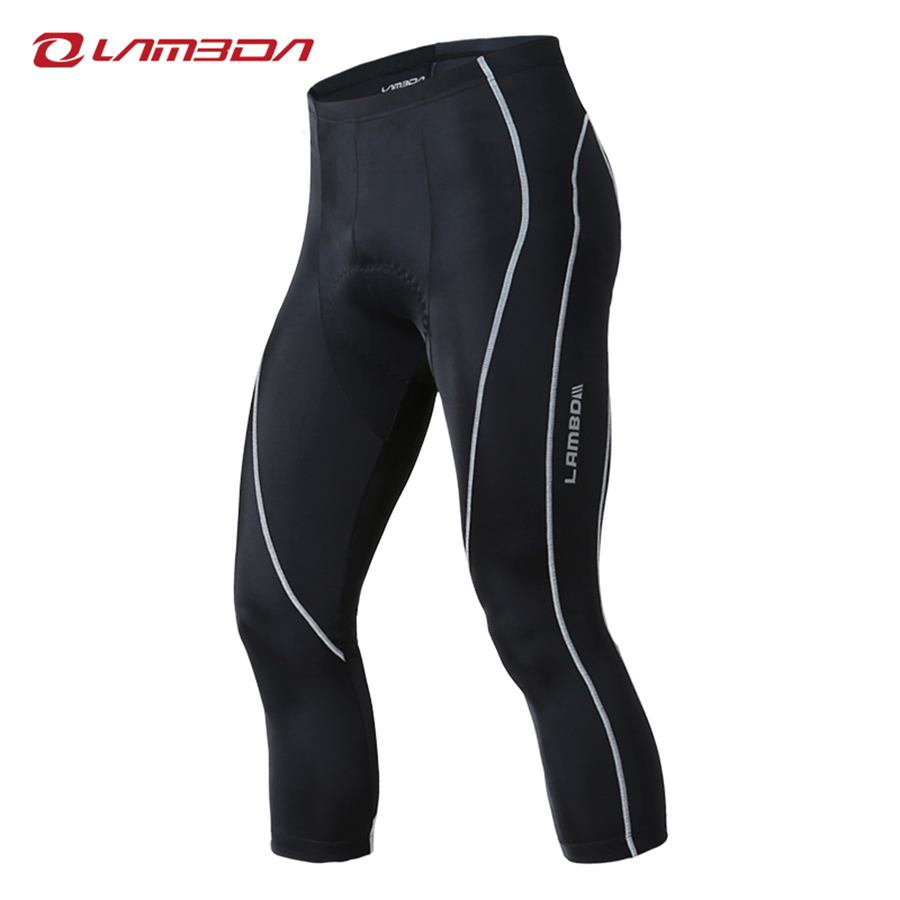 LAMBDA Spring and Summer 2018 Cycling pants 3/4 men bike trousers mtb road mountain bike bicycle clothing 3D GEL padded west biking mtb road bike jacket 3d gel padded bicycle pants breathable quick dry cycling clothing bicycle bike jersey pants