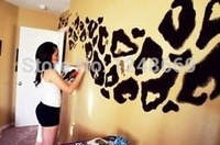 Hot Sale Cheetah Print Wall Decal Interior Home Vinyl Art Wall Decor For Kids Bedroom Decoration