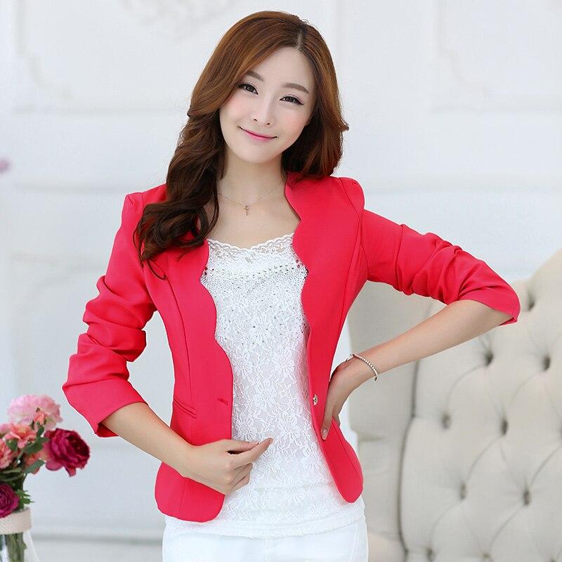 J47515 Mini Slim Fit Blazer Jacket Sim Fit Office Lady Blazer