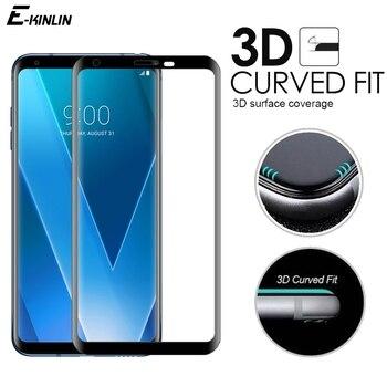Перейти на Алиэкспресс и купить 3D изогнутое полное покрытие из закаленного стекла для LG Velvet V30 V30S V35 V40 V50 V50S G8X G8 G7 Plus ThinQ 5G Защитная пленка для экрана
