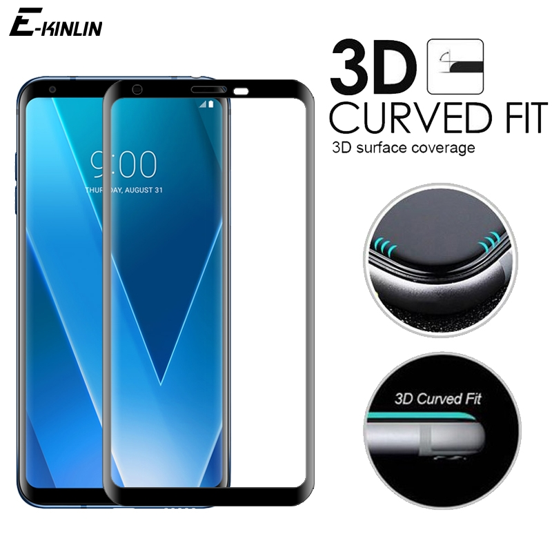 3D Curved Full Cover Tempered Glass For LG Velvet V30 V30S V35 V40 V50 V50S G8X G8 G7 Plus ThinQ 5G Screen Protector Glass Film