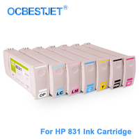 [Third Party Brand] 7Pieces/Set For HP 831 Replacement Ink Cartridge With Ink For HP Latex 310 330 360 370 Printer 775ML/PC