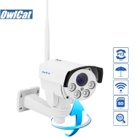 OwlCat HI3516C HD 1080P Waterproof/Outdoor Bullet PTZ WIFI IP Camera 2.0mp 5X Auto Zoom Network Wireless IR Onvif 2.4 SD Card