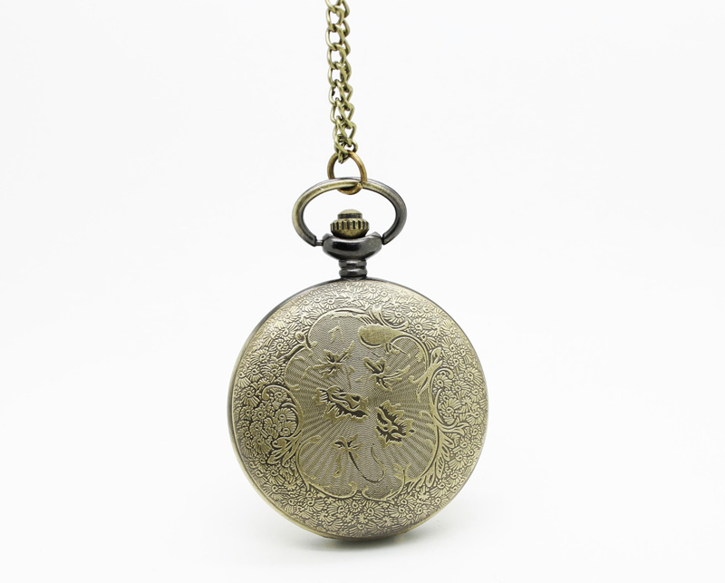 Озен(1013) 12 штук в упаковке стимпанк Винтаж Bronze римские цифры смотреть ожерелья диаметром 4.5 см